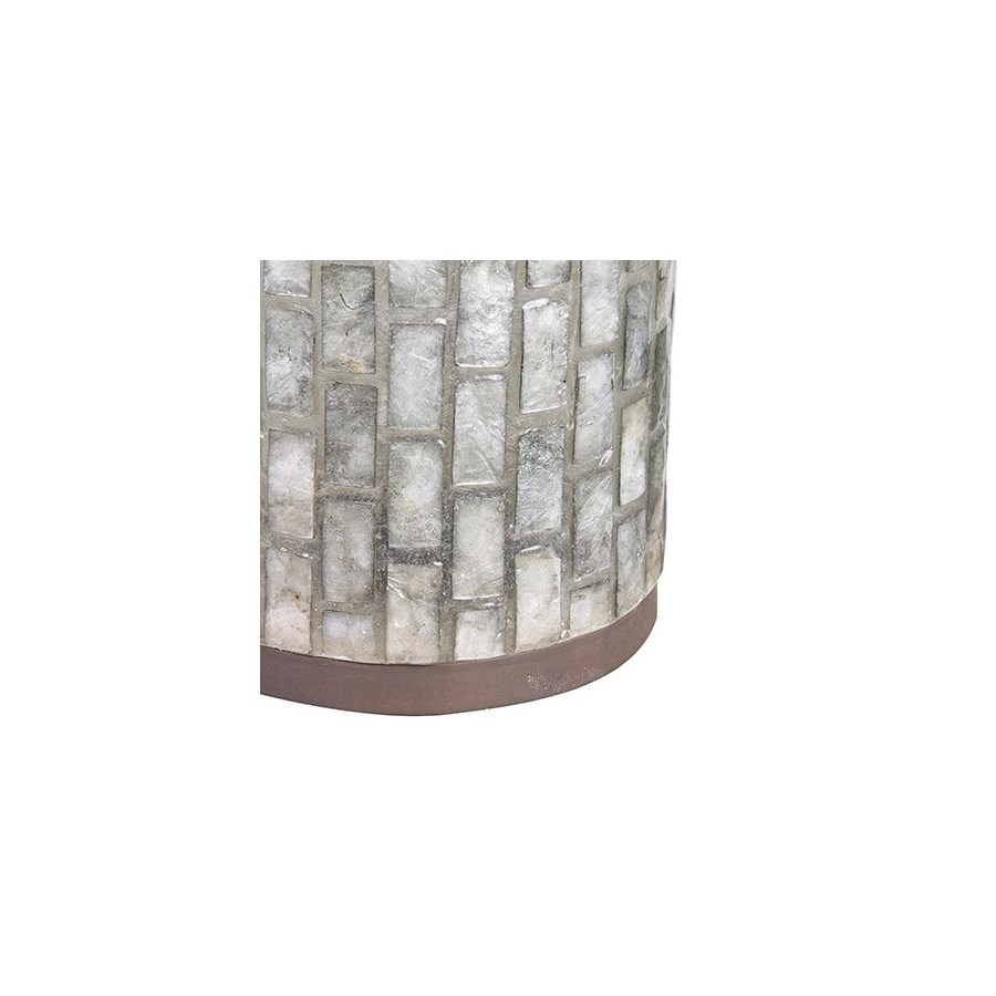 "21"" H Vertical Capiz Table Lamp - M"