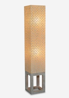(SP) Wales Capiz Floor Lamp Large - Whitewash