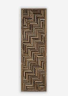 "79"" X 24""  Grand Atlas 3D Chevron Pattern Recycled Wood Wosaic (24x2x79)"