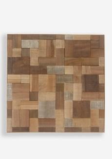 Envi Wood Mosaic Wall Decor(18x1.5x18)