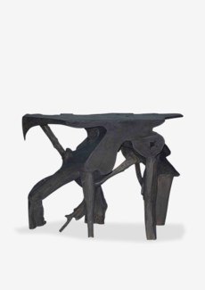 """(SP) 47"""" Organic Root Console Table In Grey Wash (47x20x35)"""