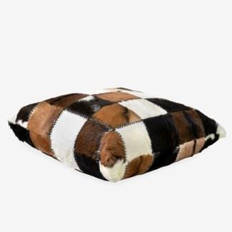 (LS) Safari Square Pillow in Patchwork Design..