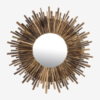 (SP) Twig Sunburst Mirror - Natural (43X2X43)