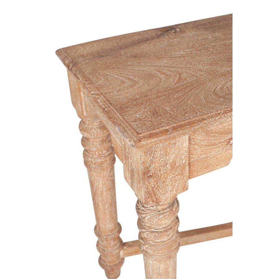 """Sienna 63"""" Wood Console Table, White Wash"""