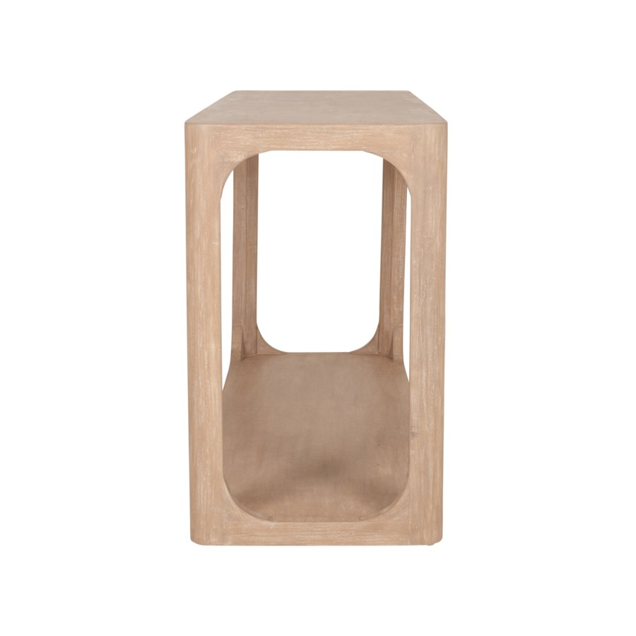"""Archie 58"""" Console Table, Beech Finish"""