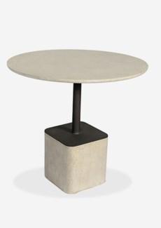 "Outdoor 31"" Pendulum Shape Fiberglass Reinforced Bistro Table In Grey Concrete Finish (31X31X29)"