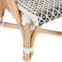Outdoor Camelot Bistro Chair with Synthetic Wicker - White Brown-Minimum quantity 2  (17X24X35)