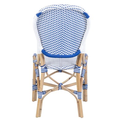 Isabel Outdoor Chair - White/Blue (18.5x24x36)