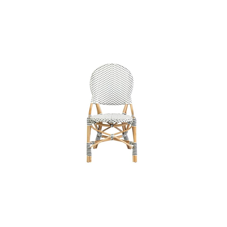 Isabel Outdoor Chair - White/Gray Taupe- MOQ 2 (18.5x24x36) (package: 2pcs/box) price is per piece