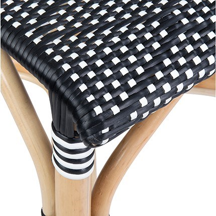 Flamenco Outdoor Bistro Dining Chair - MOQ 2 - Black/Brown (package: 2pcs/box) price is per piece