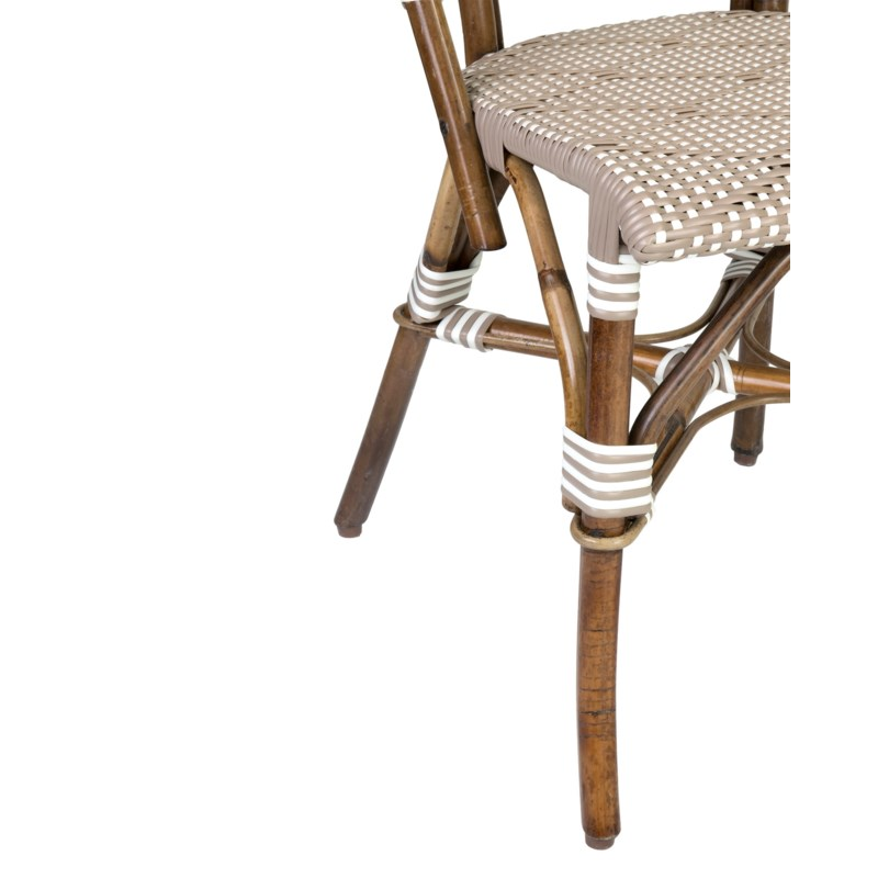 Flamenco outdoor bistro dining chair(21.5x23.5x34.25)