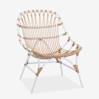 St. John outdoor chair (powdercoated frame and synthetic rattan) -- Natural(21.25x27.5x35)