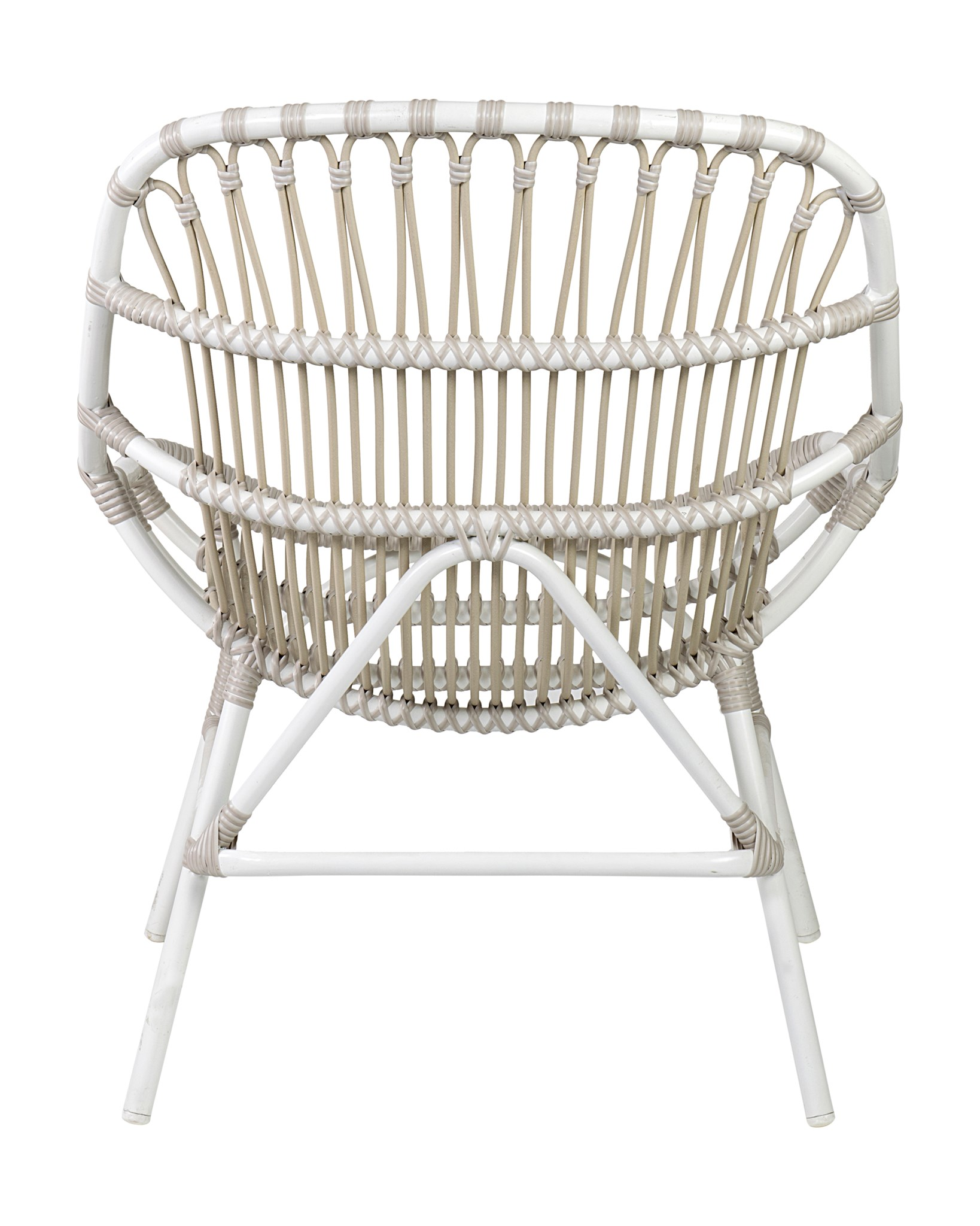 St. John Outdoor Occasional Chair (powdercoated Frame And Synthetic Rattan)     White
