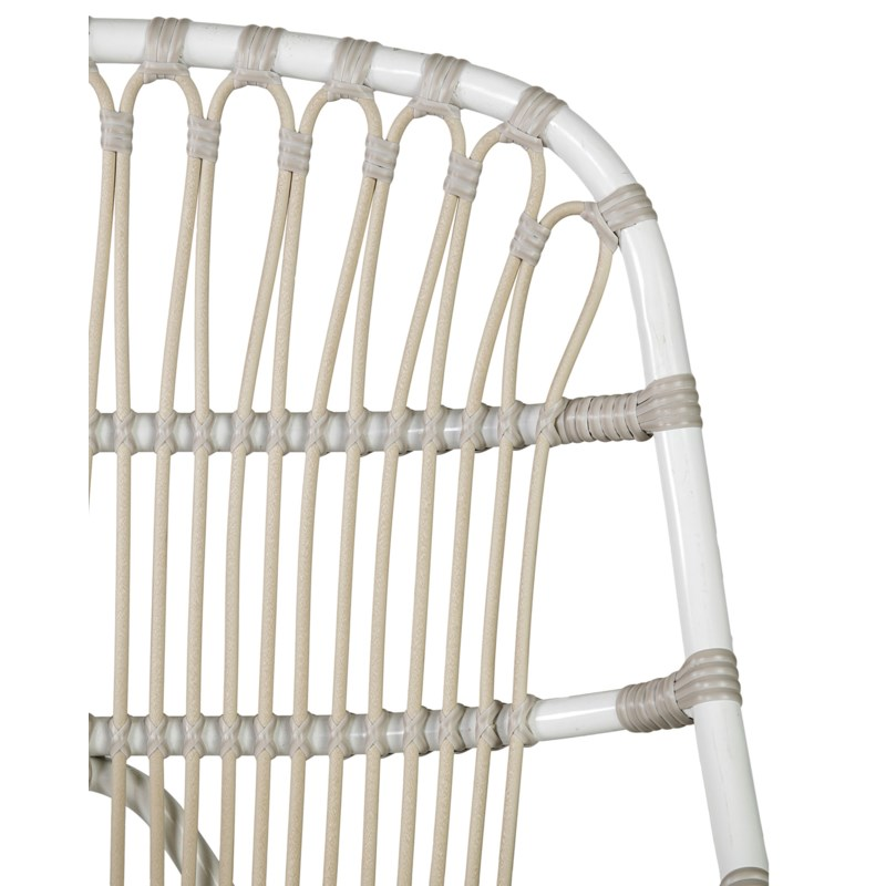 (LS) St. John outdoor occasional chair (powdercoated frame and synthetic rattan) -- white/taupe..(25