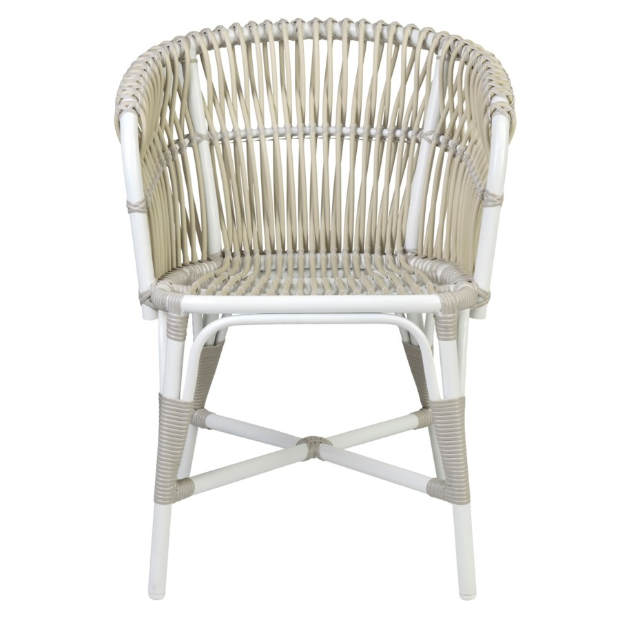 St. Martin outdoor round back occasional chair (23.5x22.5x31.25)....