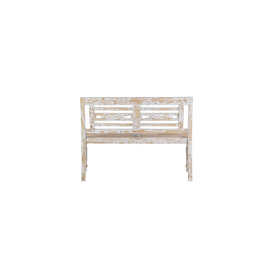 (LS) Raj Carved Bench