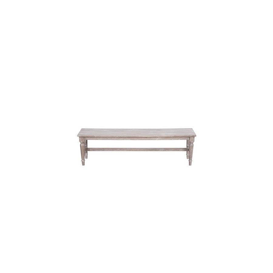 Jules White Wash Dining Bench (59.8x13.8x16.9)
