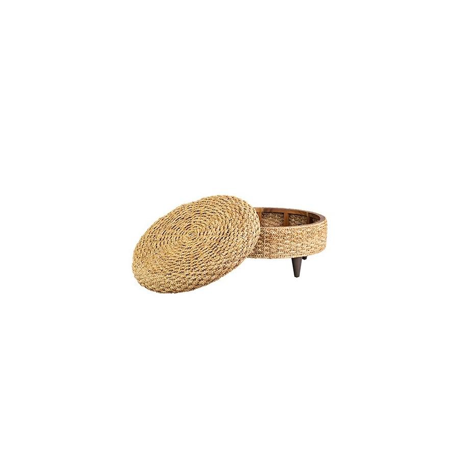 Easton round storage ottoman