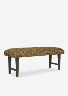 West Indies Woven Bench K/D (47x16x18)