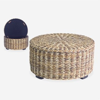 Palm Isle Round Coffee Table with Storage - Large