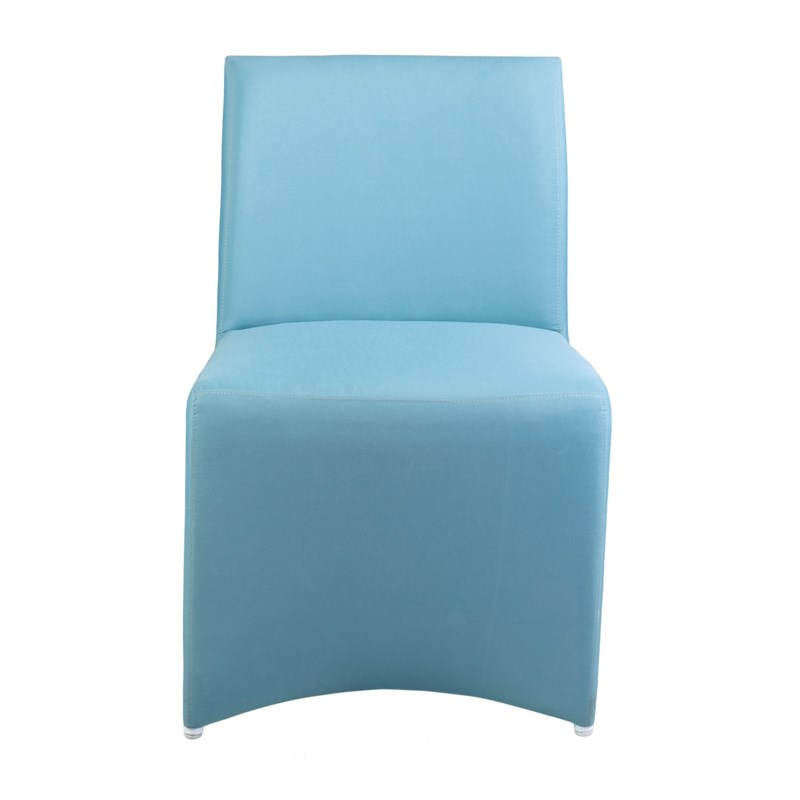 Outdoor Upholstered Chair - Blue Color MOQ 2 (package: 2pcs/box) price is per piece