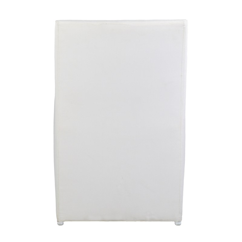Outdoor Upholstered Chair - White Color MOQ 2 (22X25X33) (package: 2pcs/box) price is per piece