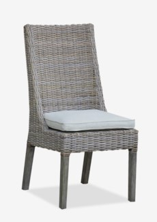 (LS) Eliza Kubu Grey Rattan Dining Side Chair..(20x25x41)..