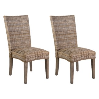 Rattan Driftwood Grey Dining Side Chairs - K/D (min qty: 2 pc) (20X26X40)