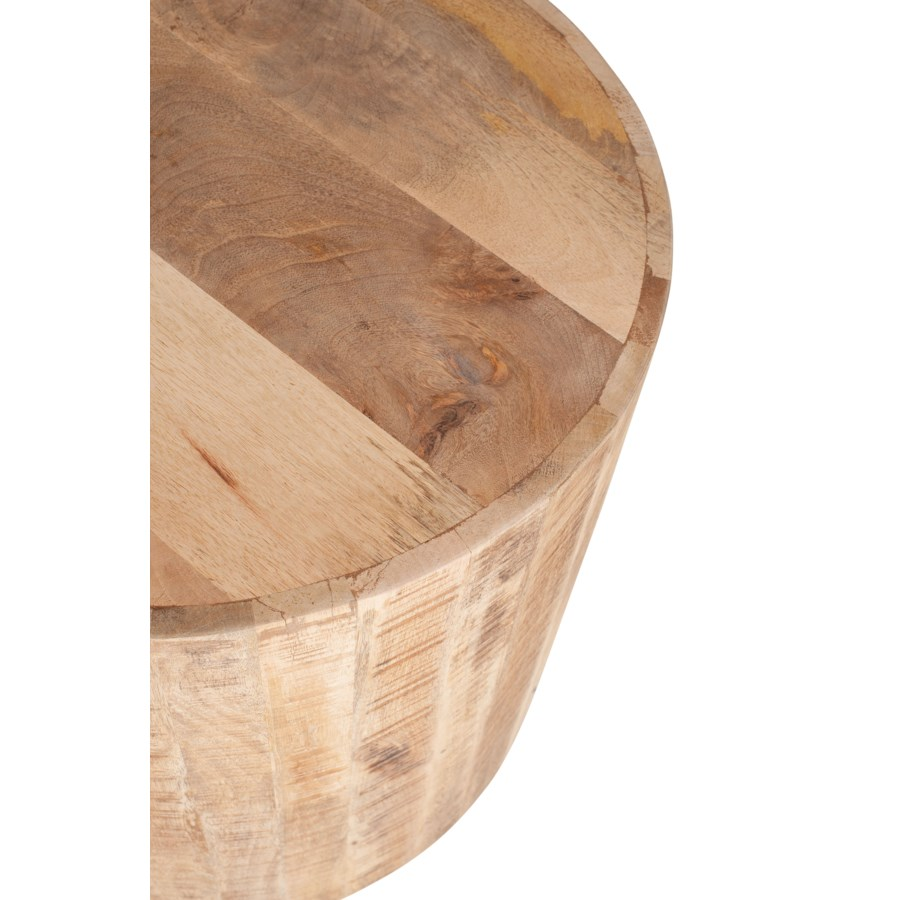 """Maison 20"""" Round Side Table, Natural"""