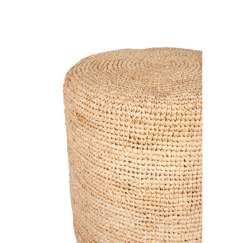 Surfside round ottoman/ table - natural