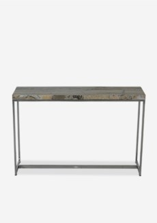 (LS) Uptown Onyx Console Table With Stainless Steel Base-Light Color(46.5x13x29.5)
