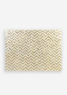 (LS) Capiz Herringbone Pattern in White and Gold Wall Decor..