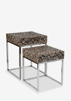 Serengeti Nesting Tables - Set of 2 Grey Patina