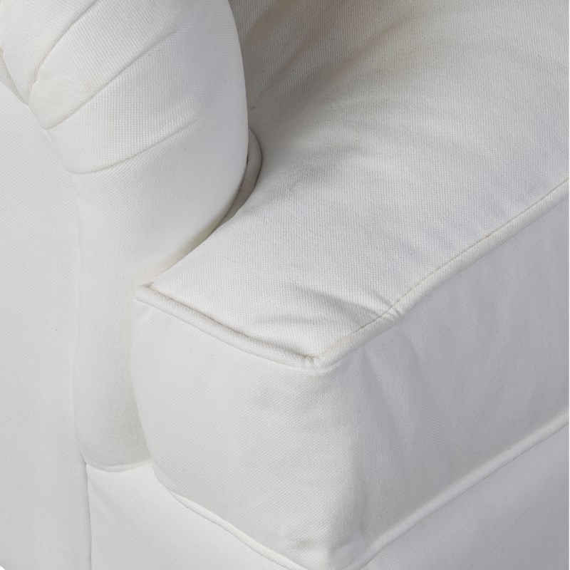 """* Revival 84"""" Sofa, Wood Turned LegsFabric: Eton FrostSeat: Down WrapTwo Toss Pillows"""