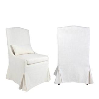 Arabella Dining Chair 2pcs/box - Cream Linen - 24x29.5x43