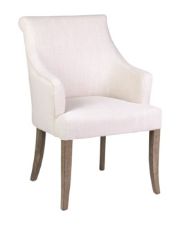 Harper Dining Chair - Cream Linen - 24x27x37.5