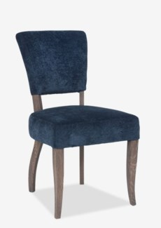 (LS) Logan Dining Chair. Fabric: Slate Chenille 2pcs/box(19.7x25x35.4)