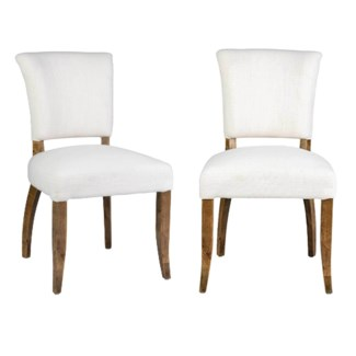 Logan Dining Chair 2pcs/box - Cream Linen  - 20x25x35.5
