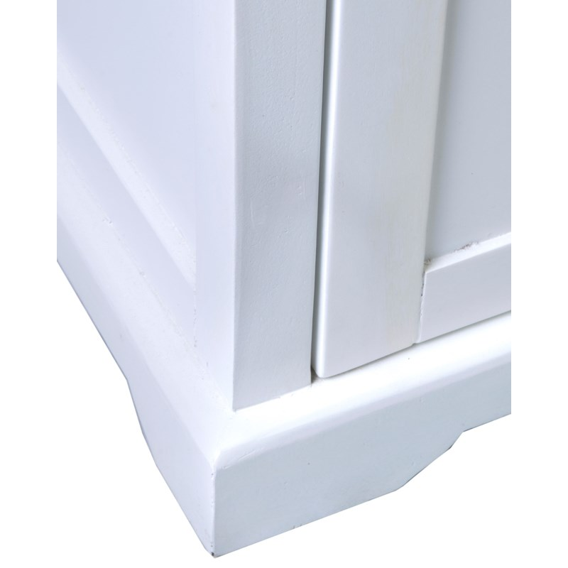 (LS) Naomi Cabinet 2 Doors and 1 Drawer White Cabinet/Mango Top29.5X16X33.5
