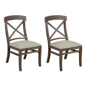 Adam Dining Chair With Upholstered cushion - Grey wash