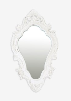 "(LS) Annabell 26"" oval mirror - Vintage White...."