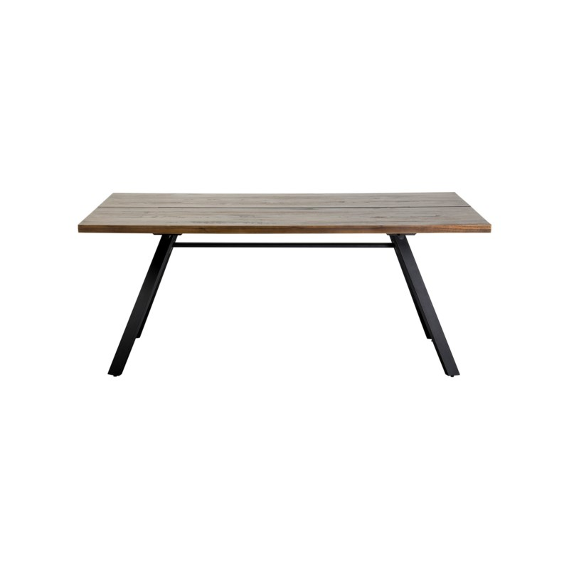 """(LS) Bremen 72"""" solid dining table with metal base..(72X35X31).."""