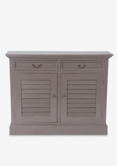 (SP) Marcy Shutter 2 Door Cabinet (2 doors & 2 drawers).-Smoke Grey.44x11,5x34,5