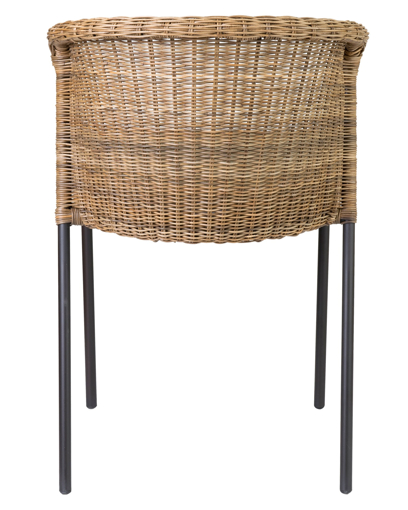 (SP) Netta Round Back Chair With Iron Frame And Natural Fine Rattan.
