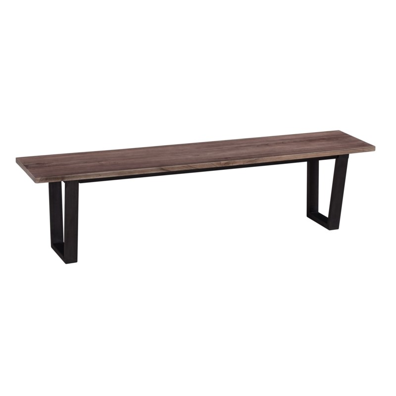 "(LS) Thomas 67"" wood bench with metal base - K/D..(67X15X18)....2 BOXES PER ITEM"