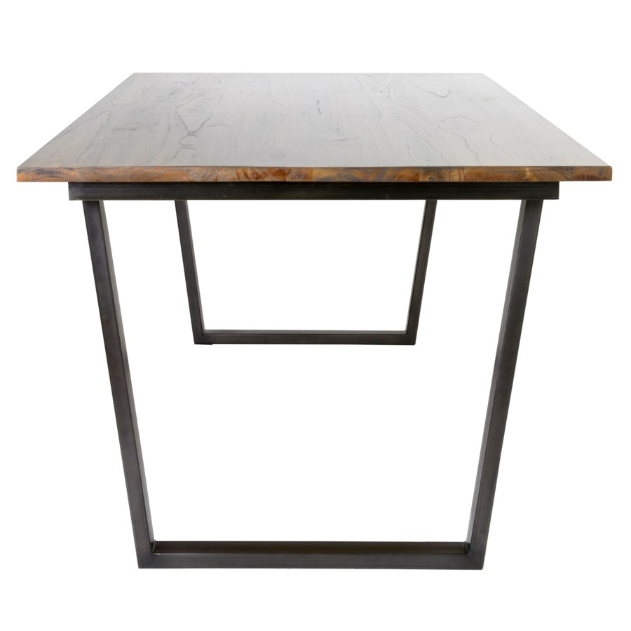 Thomas dining table with metal base..(79X39X30) (2 BOXES PER ITEM)