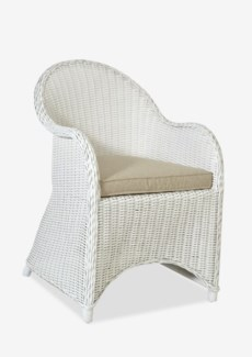 (LS) Marion Rattan Chair-White..(22x25x33)....