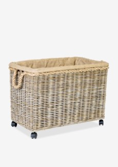 Basket Large Kubu Grey w/ Rope & Jute Lining (31.5x18.5x24)