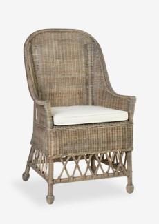 Daphnie Rattan Arm Chair-Grey Wash (22X23X39)