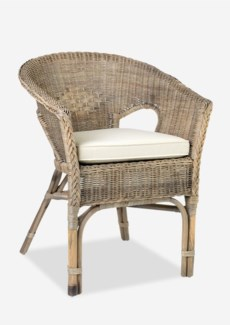 (LS) Daphnie Tub Rattan Arm Chair- Grey Wash (24X23X31)